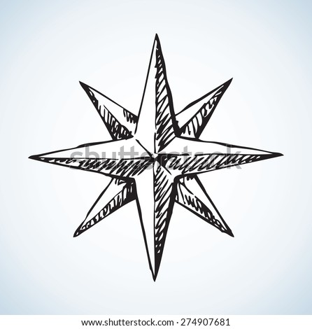 compass rose icon vector
