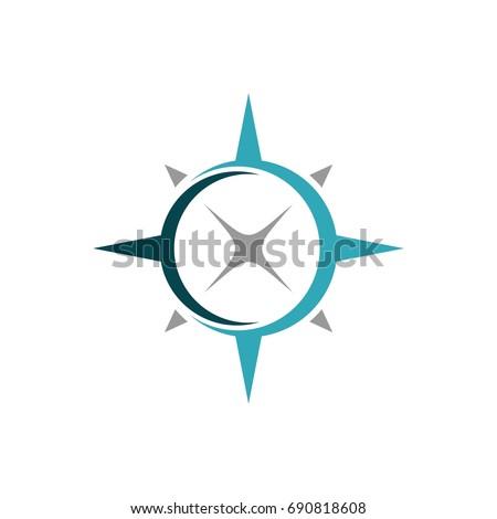 Compass Rose Swoosh Logo Template