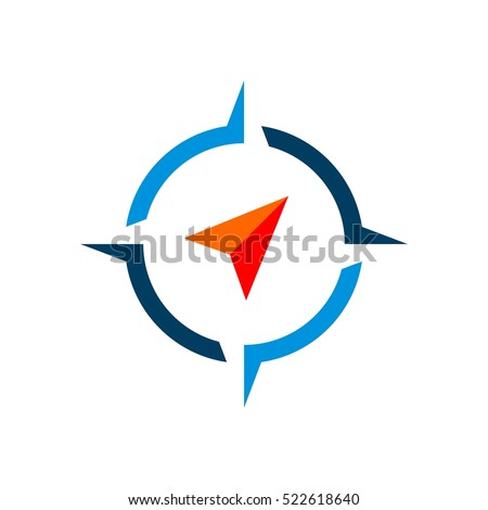 Compass Rose Vector Logo Template Illustration Design. Vector EPS 10.