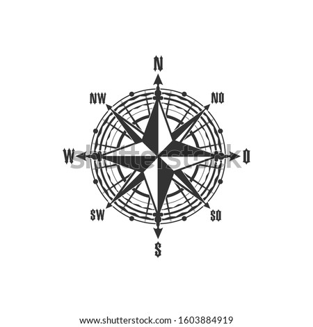 compass symbol and sign