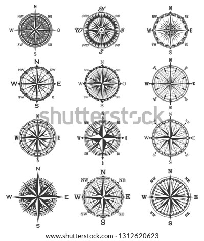 compass symbols and signs