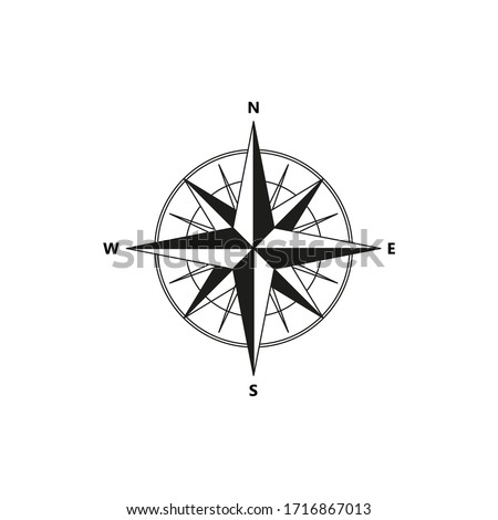 Compass vector icon on white background. Photo stock ©