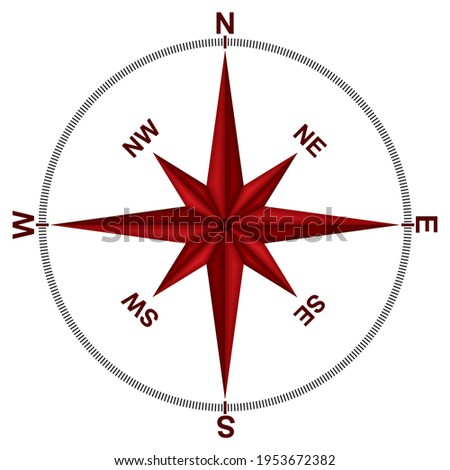 Compass Wind Rose Icon Vector Illustration. Element Of Navigation Isolated On White Background.eps  Imagine de stoc ©