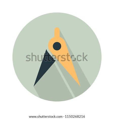 Compasses icon, divider icon, circle. drafting sign design