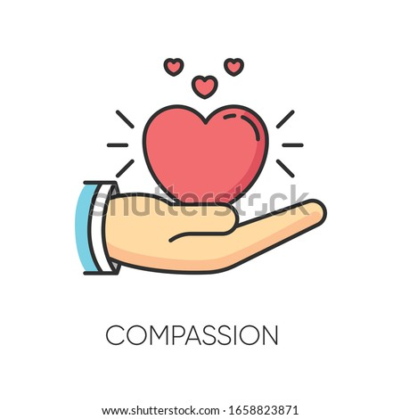 Compassion RGB color icon. Emotional support, friendly sympathy. Empathy, solidarity and friendship symbol. Voluntary care, charitable help and kindness. Isolated vector illustration