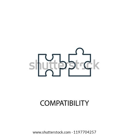 compatibility concept line icon. Simple element illustration. compatibility concept outline symbol design. Can be used for web and mobile UI/UX