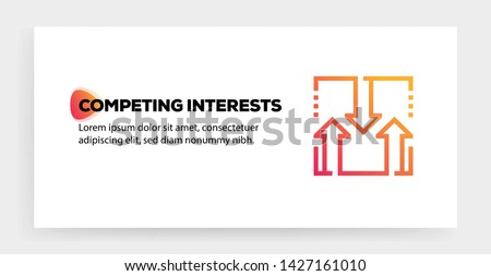 COMPETING INTERESTS AND ILLUSTRATION ICON CONCEPT