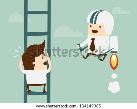 competition in business concept stock vector