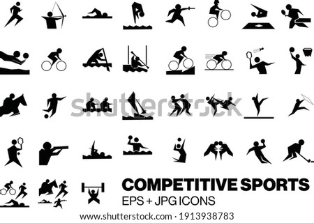 competitive sports competition active lifestyle archery swimming volleyball equestrian fighting karate judo hockey gymnastics racing lifting weights triathlon