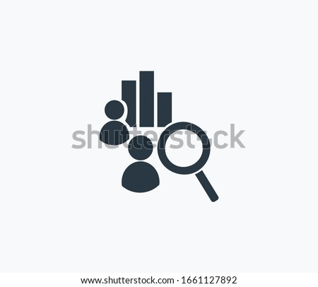 Competitor analysis icon isolated on clean background. Competitor analysis icon concept drawing icon in modern style. Vector illustration for your web mobile logo app UI design.