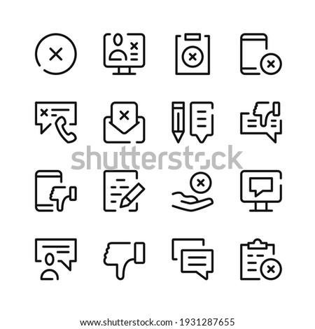 Complaint icons. Vector line icons. Simple outline symbols set Photo stock ©