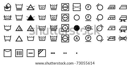 Complete International Laundry Symbols Collection