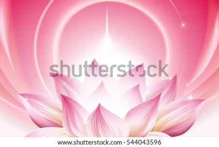 complete pink lotus at the