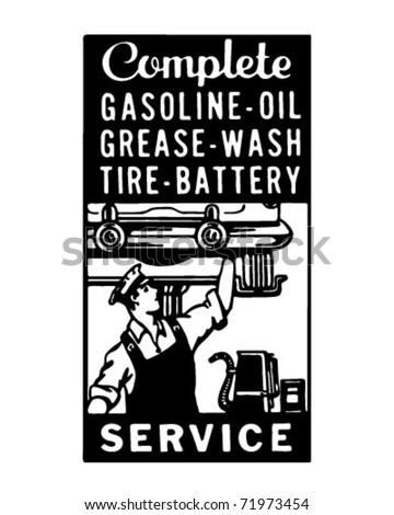 Complete Service 3 - Retro Ad Art Banner