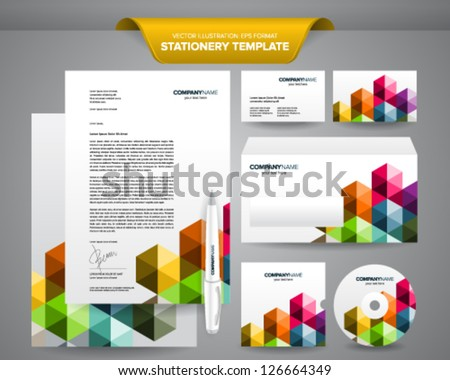 Free stationery design template download free vector art stock complete set of business stationery template such as letterhead envelope business card etc cheaphphosting Image collections
