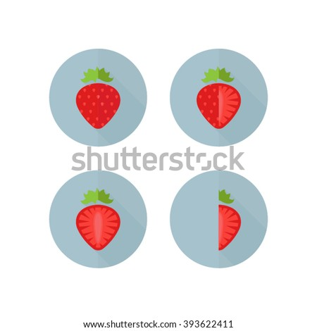 complete strawberry  three