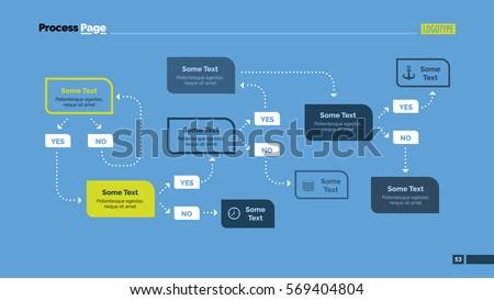 Complex Flowchart Algorithm Slide Template