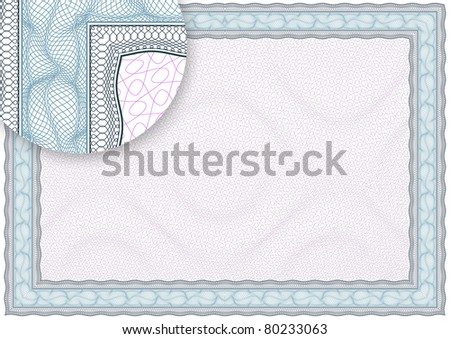 Complex vector pattern that is used in currency and diplomas.