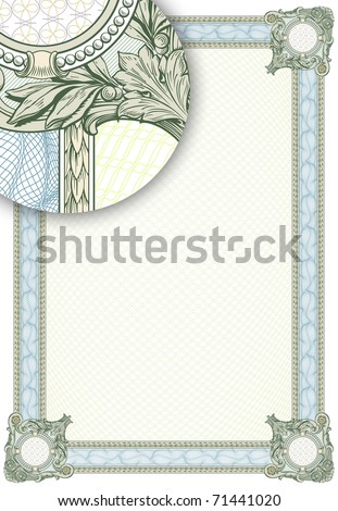 "Complex vector pattern that is used in currency and diplomas. For more see ""Guilloche"" in my gallery."