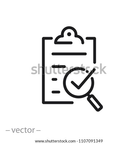 compliance icon, quality check line sign - vector illustration eps10