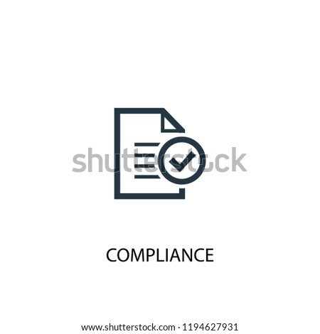 compliance icon. Simple element illustration. compliance concept symbol design. Can be used for web and mobile.