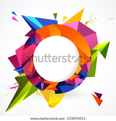 composition of colorful round