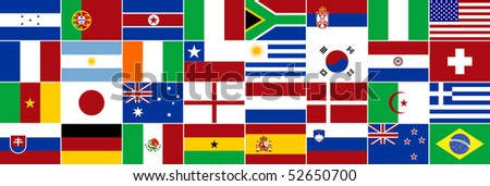 Composition with country flags