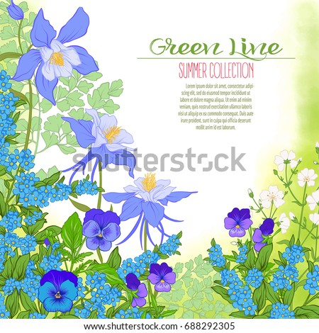 composition with spring flowers