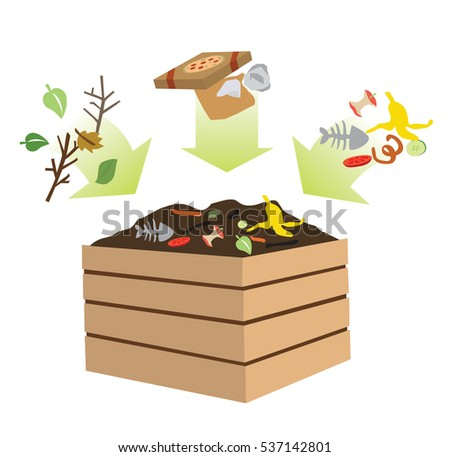 compost bin with organic material