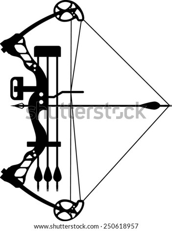 stock vector compound bow and arrow 250618957 1980 kz650 wiring diagram 1980 find image about wiring diagram,Honda Cb 650 Wiring Diagram