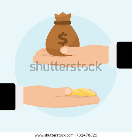 Compound interest, financial investments stock market, future income growth, revenue increase, money return, pension fund plan, budget management, banking vector icon