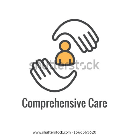 Comprehensive Care Icon - health related symbolism and image