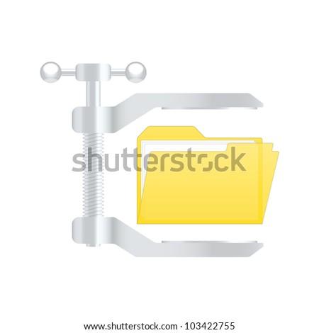Compress archive icon. Vector illustration
