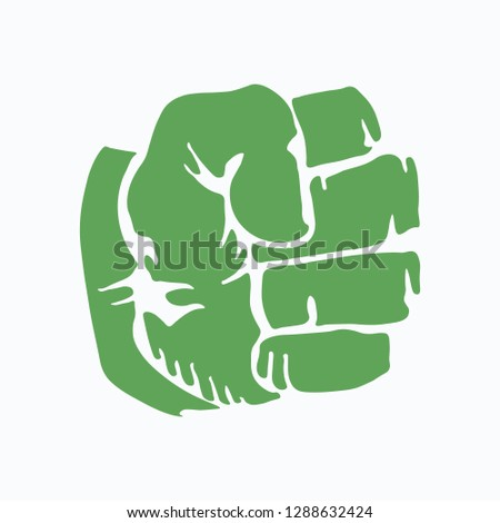 compressed green fist clenched