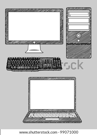 Computer and Laptop