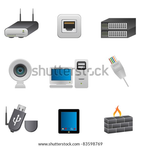 Computer and network parts and devices