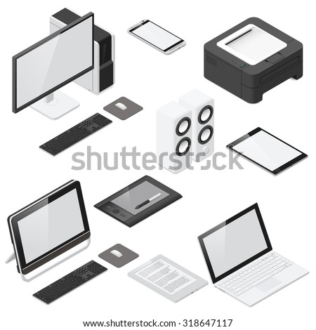 computer and office devices