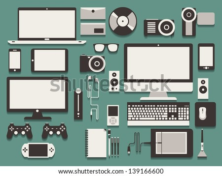 computer and technology vector