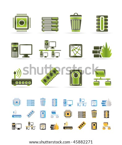 Computer and website icons - vector icon set - 3 colors included
