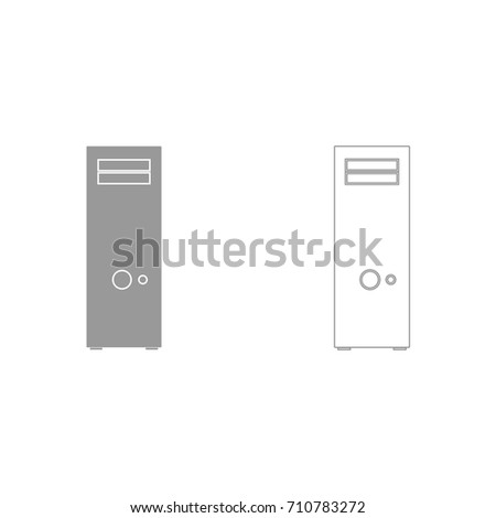 computer case or system unit