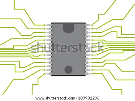 Computer Chip Stock Vector Illustration 109902296 ...