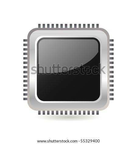 Computer Chip Stock Vector 55329400 : Shutterstock