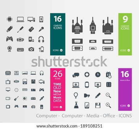 Computer -  Computer - Media - Office - ICONS