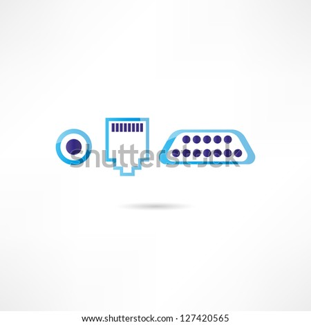 Computer connectors icon