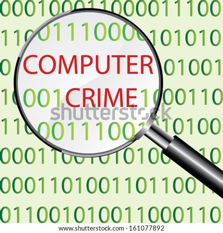 Computer crime concept vector