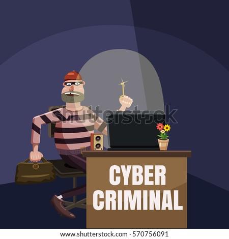 computer criminal spy concept