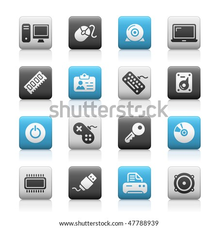 Computer & Devices Web Icons // Matte Series