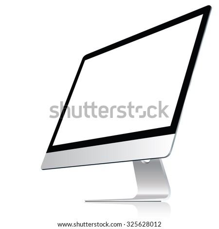 computer display isolated on
