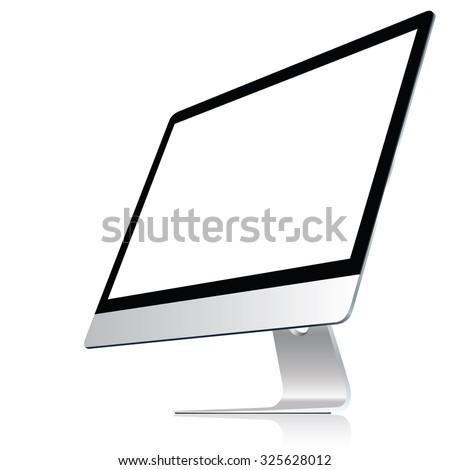 computer display isolated on