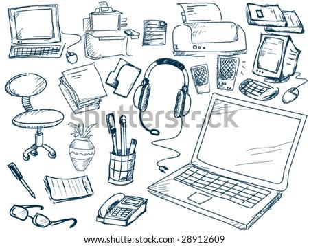 Computer Doodles - Vector